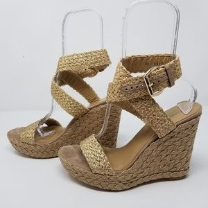 STUART WEITZMAN 'Alex' Crocheted Espadrille Wedges